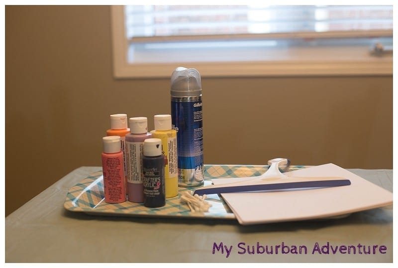 Painting With Shaving Cream!