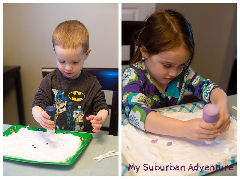 2 kids crafting