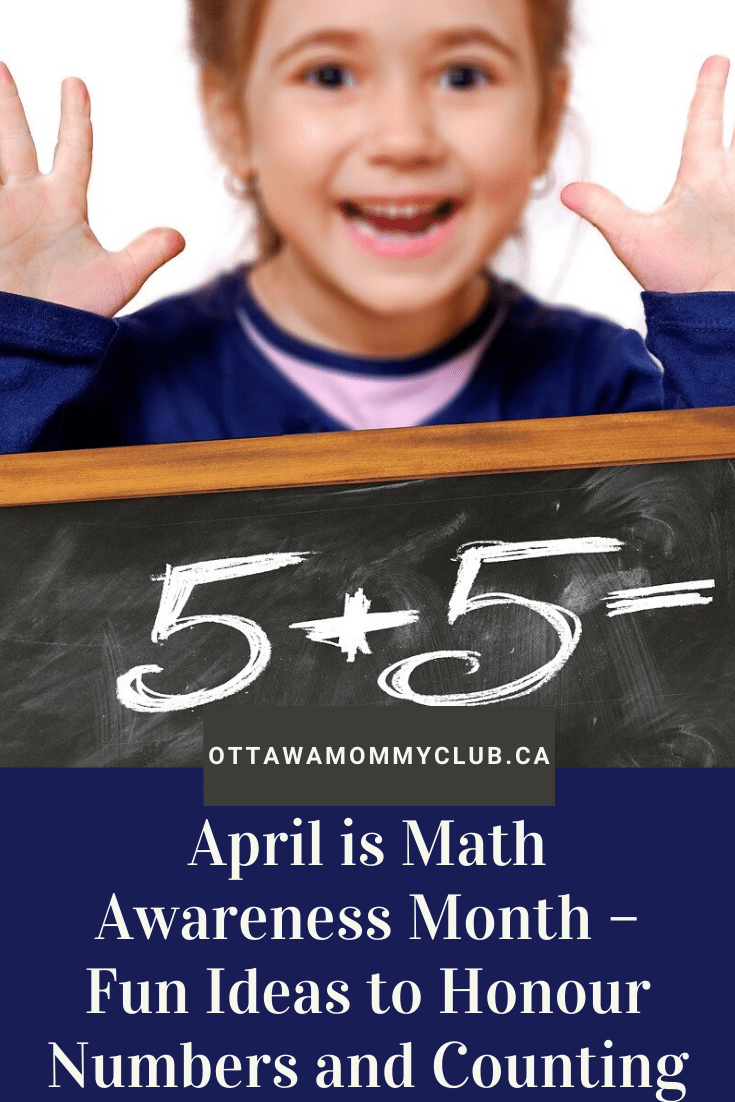 April is Math Awareness Month - Fun ideas to honour numbers and counting