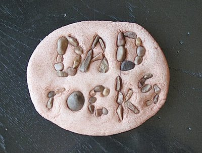 Dad Rocks Salt Dough Paperweight Craft for Father's Day