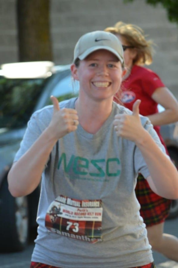 First race post-childbirth - a fun day but happy to be done :) Photo by Jon Ball