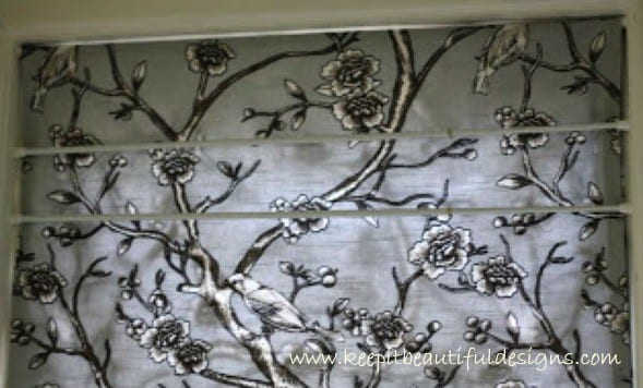 DIY No-Sew Roman Blind