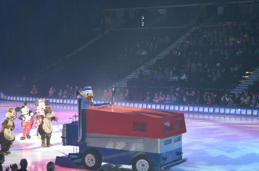 Donald takes the Zamboni for a spin. Photo by Samantha Ball.