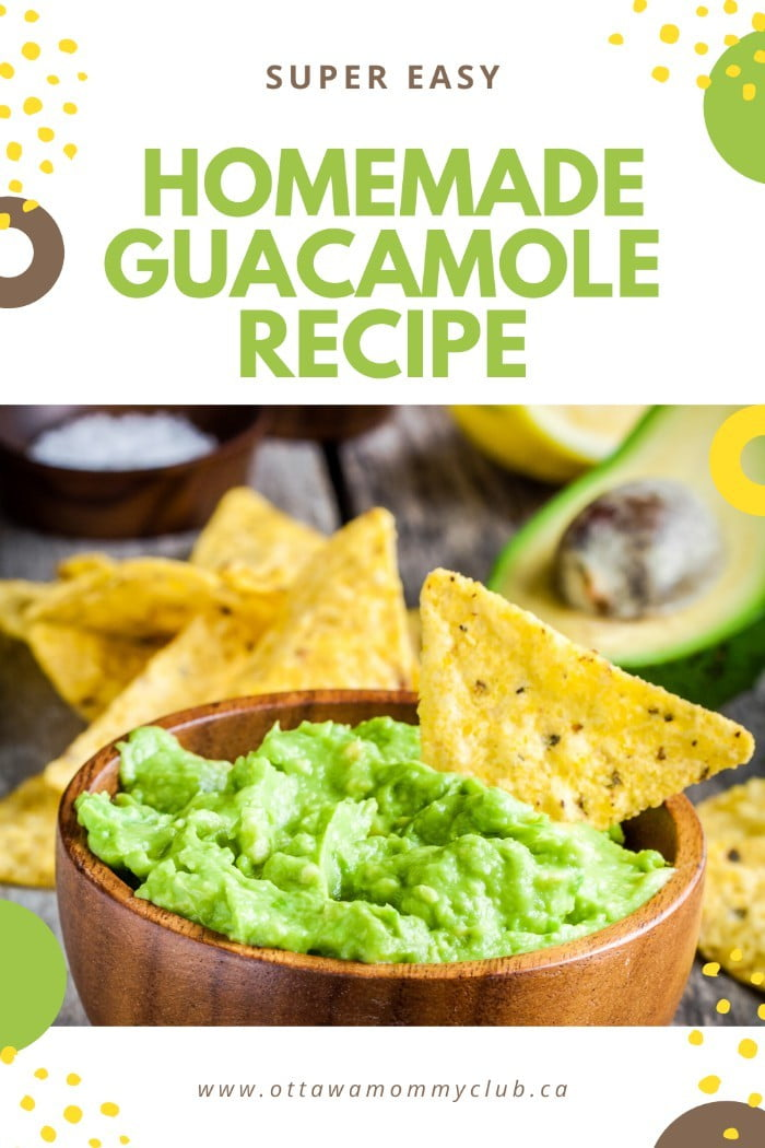 Super Easy Homemade Guacamole Recipe