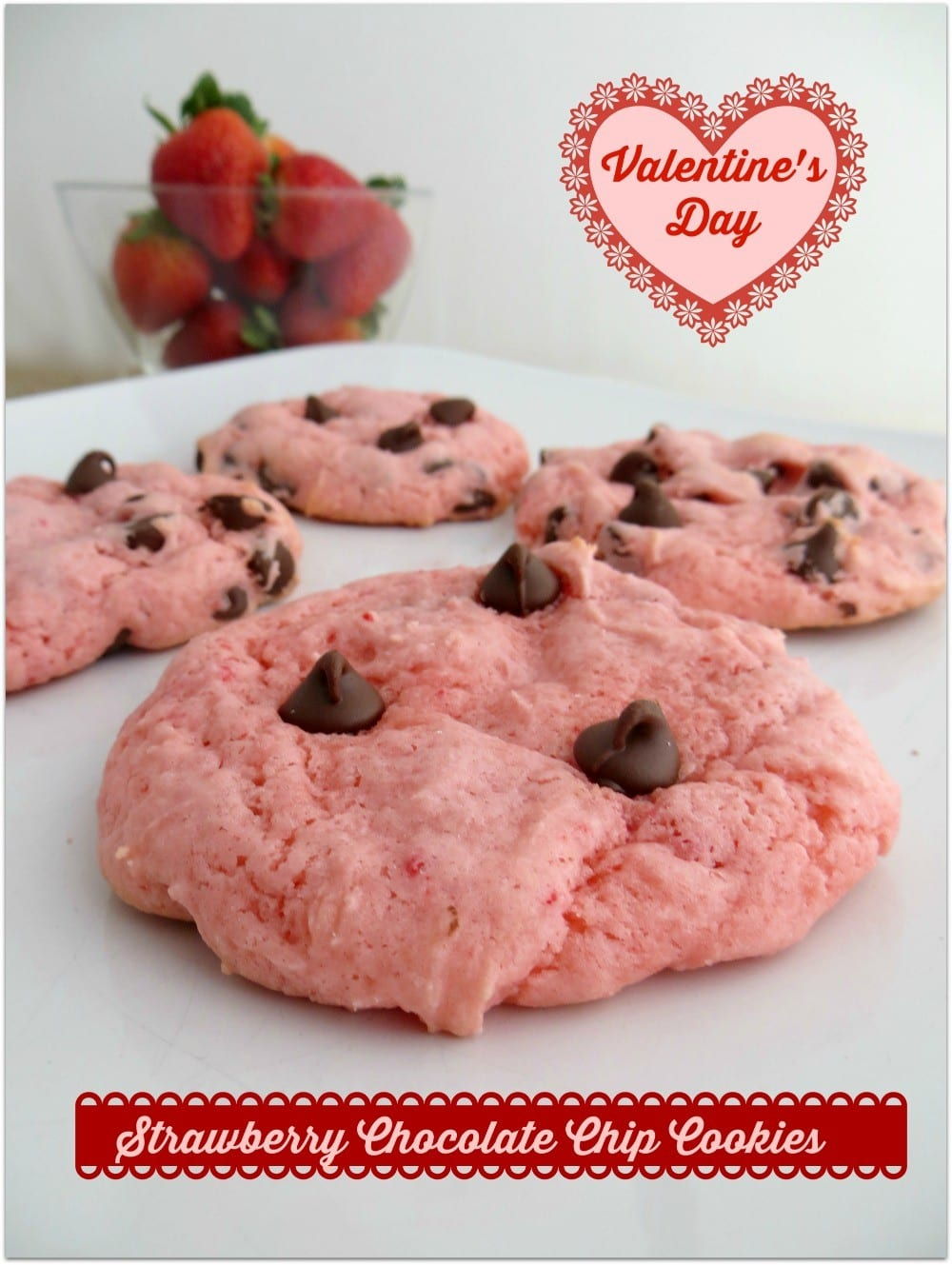 Strawberry Chocolate Chip Cookies Recipe