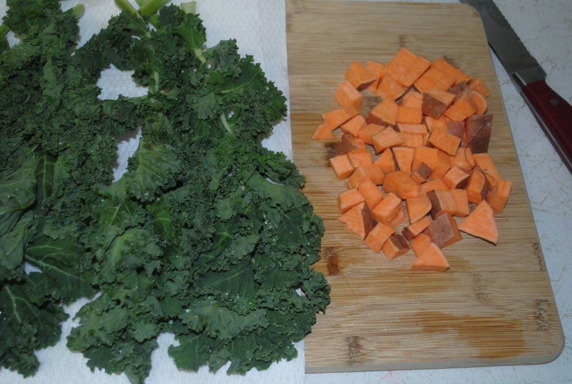 carrots and kale