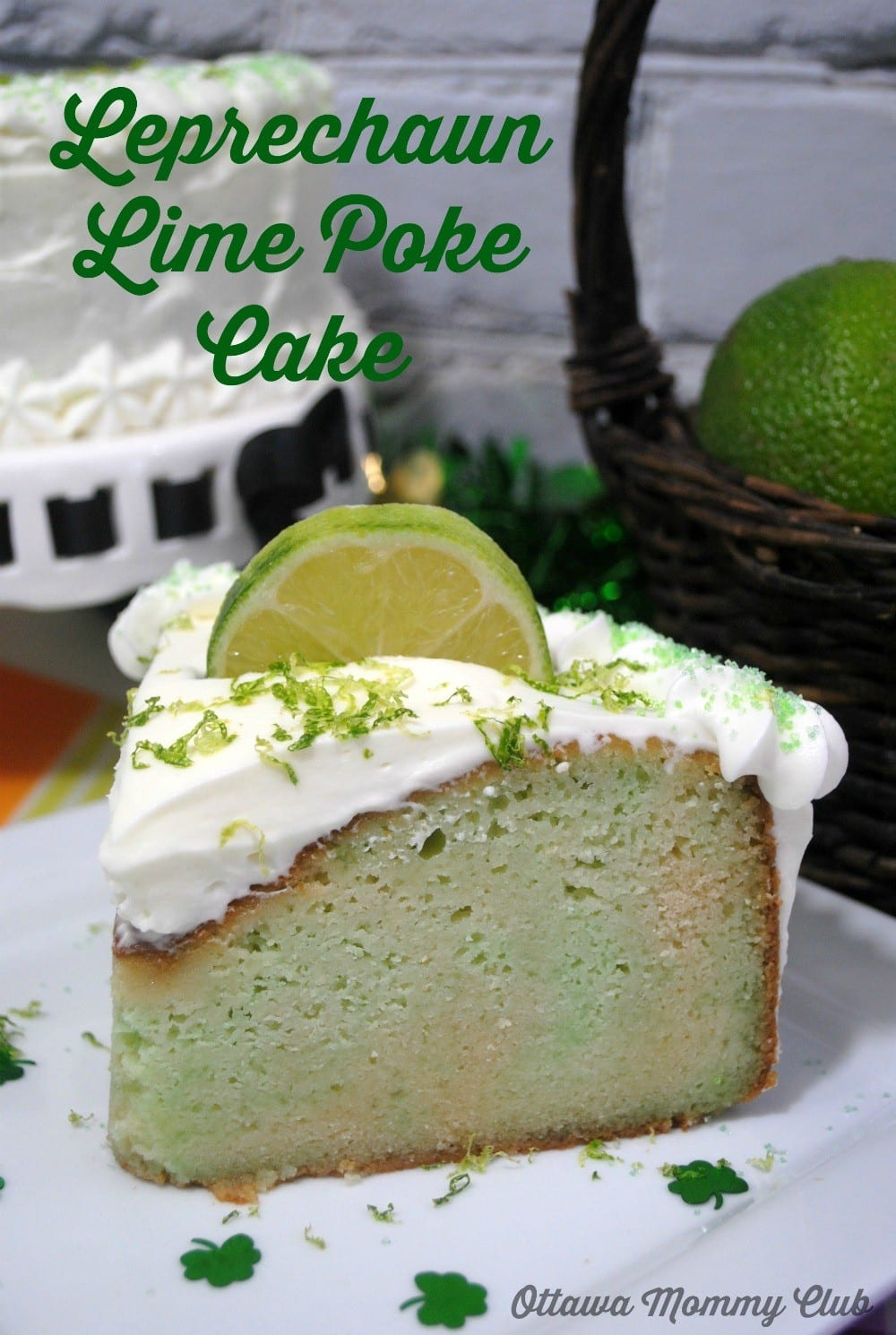 Lime Poke Cake Recipe For St. Patricks Day