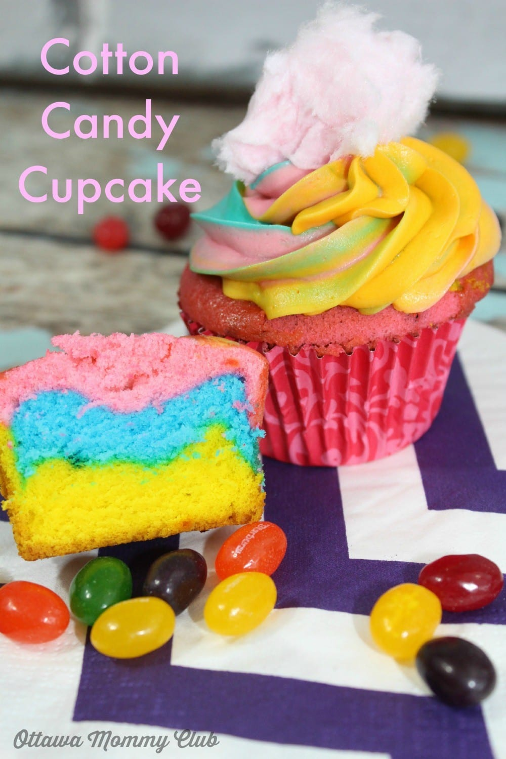 cotton candy cupcake recipe