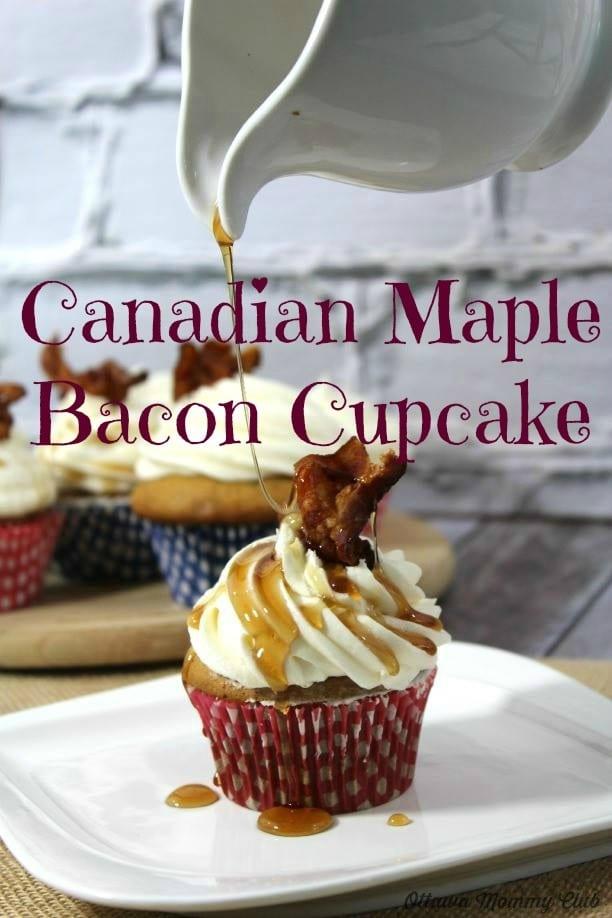 Canadian Maple Bacon Cupcake