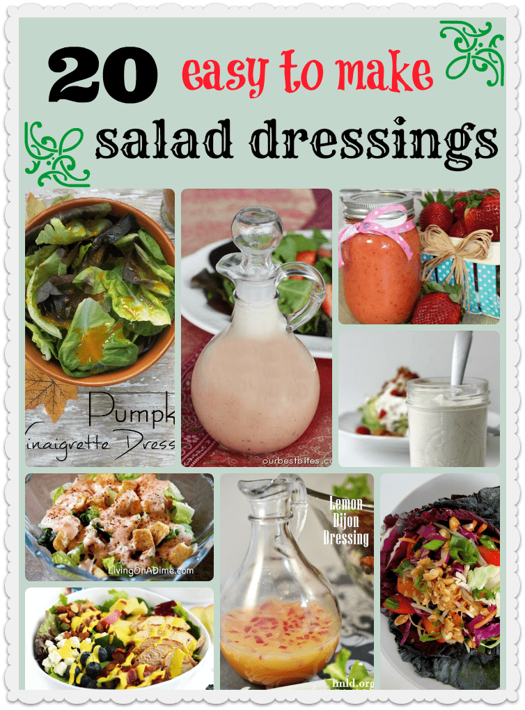 20 Easy To Make Salad Dressings