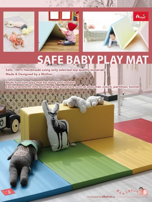 Safe Play Area with the Artbee Foldable Playmat