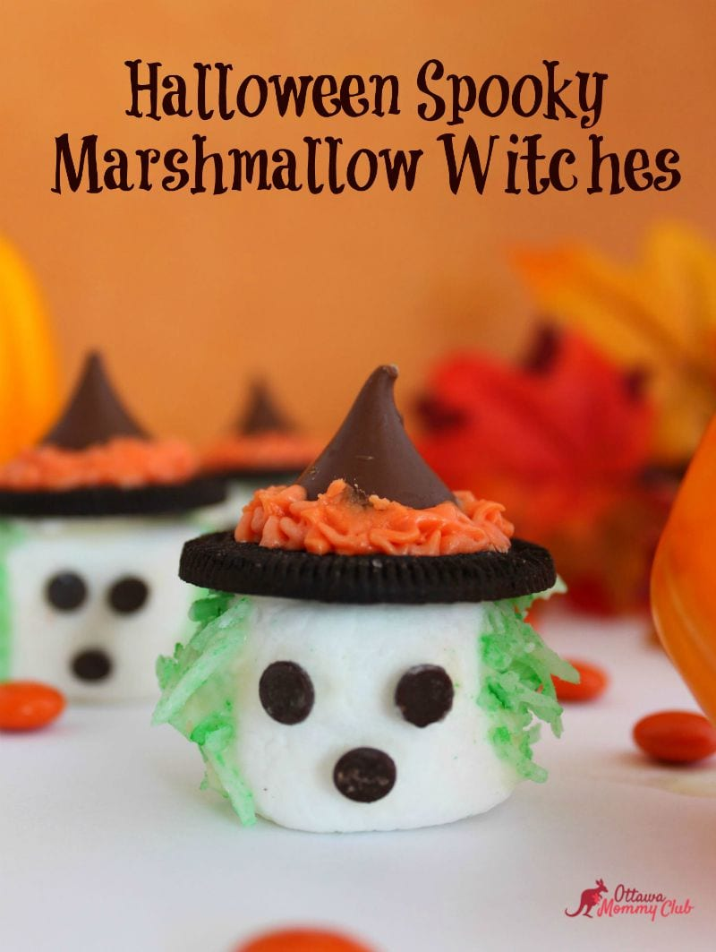 Halloween Spooky Marshmallow Witches