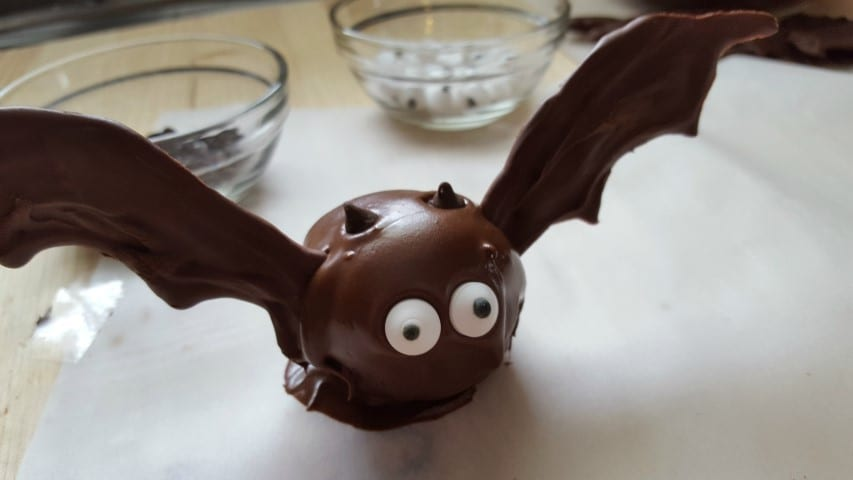 Halloween Oreo Bat Truffles Recipe in process