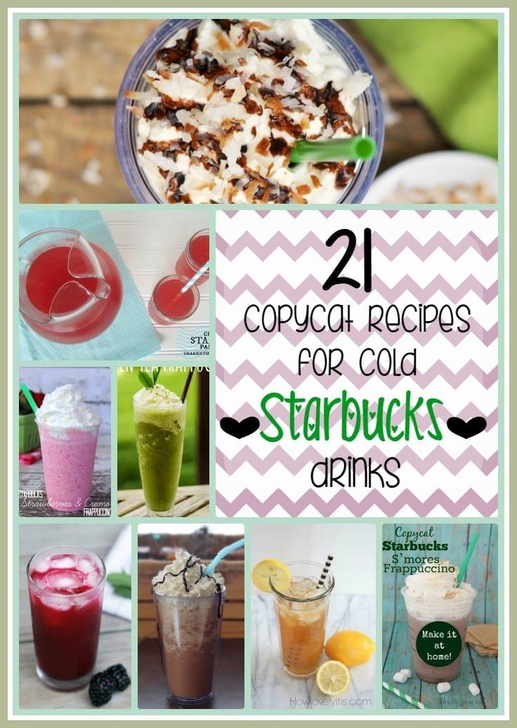 21 Copycat Recipes for Cold Starbucks Drinks