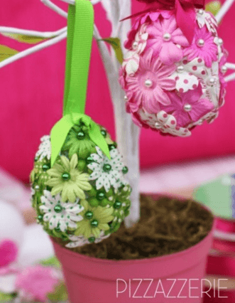 DIY Flower Easter Eggs