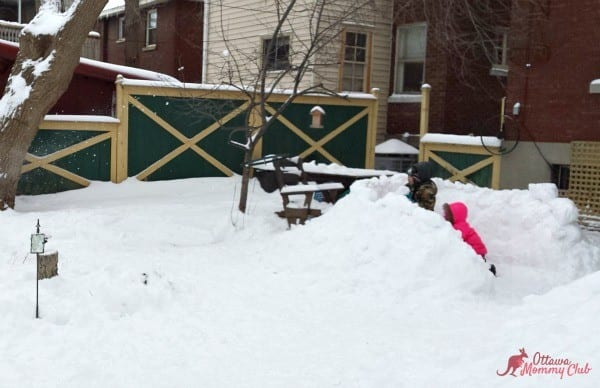 Reese Speaks Snow Fort Fun Ottawa Mommy Club