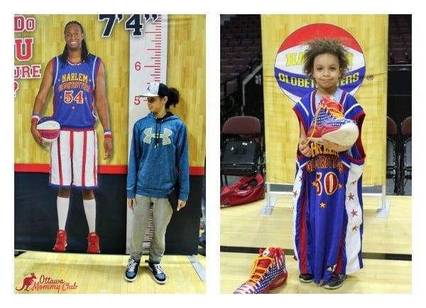 Ottawa Mommy Club Harlem Globetrotters Pre-Game Collage Photo