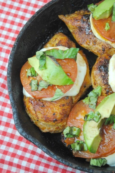 Caprese Chicken Cast Iron Meal Recipe