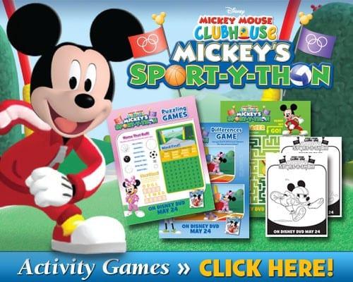 Mickey's Sport-y-Thon Activity Games!