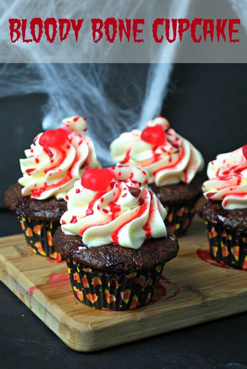 Bloody Bone Cupcake