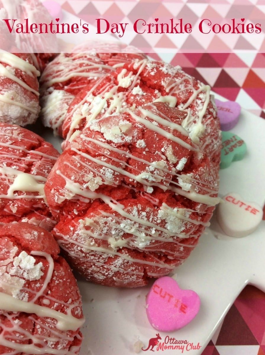 Valentine's Day Crinkle Cookies
