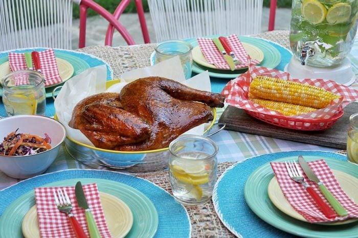 bbq half turkey