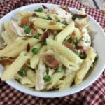 Super Easy Chicken Alfredo Bacon Penne Pasta Recipe