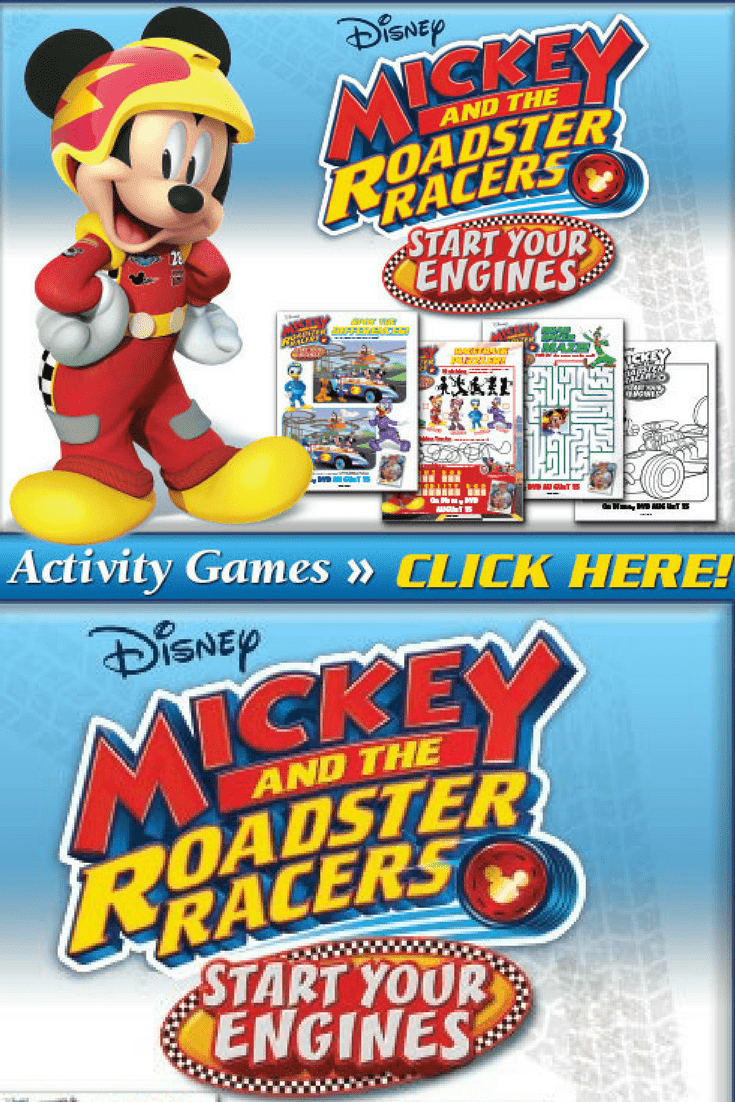 Disney's Mickey and the Roadster Racers: Start Your Engines Activity Sheets