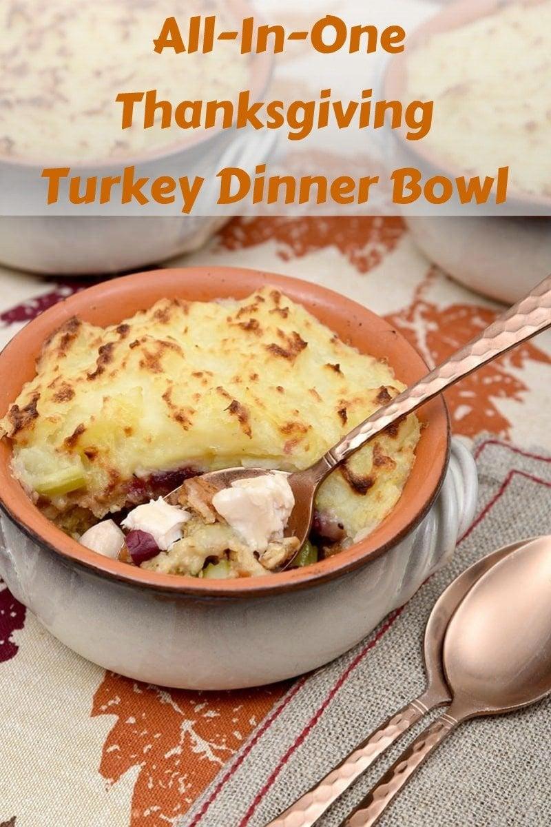 All-In-One Thanksgiving Turkey Dinner Bowl