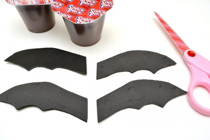 Halloween Chocolate Pudding Bats Craft