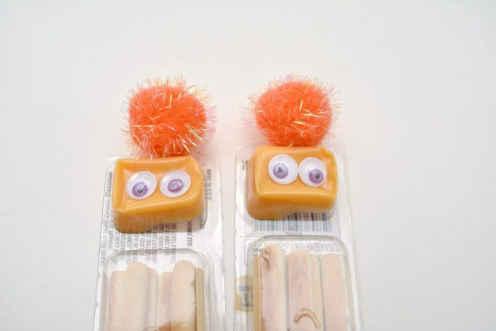 Halloween Monster Cheese and Crackers Craft