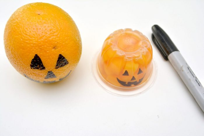 Halloween Jack-O-Lantern Orange or Peach Slices Craft