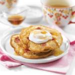 Whole Grain Lemon and Raspberry Pancakes