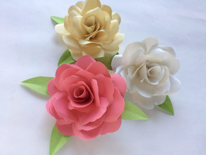 Paper Rose Craft Tutorial