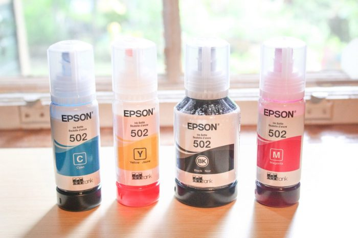 Epson Expression ET-2750 Eco-Tank Wireless All-In-One Printer ink