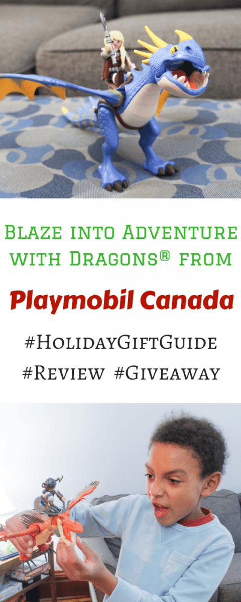 Blaze into Adventure with Dragons from Playmobil Canada #HolidayGiftGuide #Giveaway
