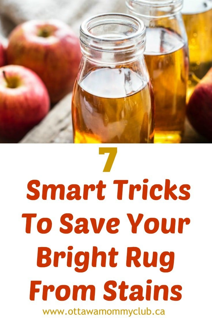 7 Smart Tricks To Save Your Bright Rug From Stains