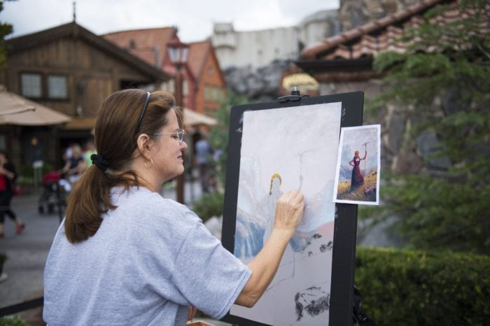 Artist at work during the 2nd annual Epcot International Festival of the Arts at Walt Disney World - Photo credit: Disney