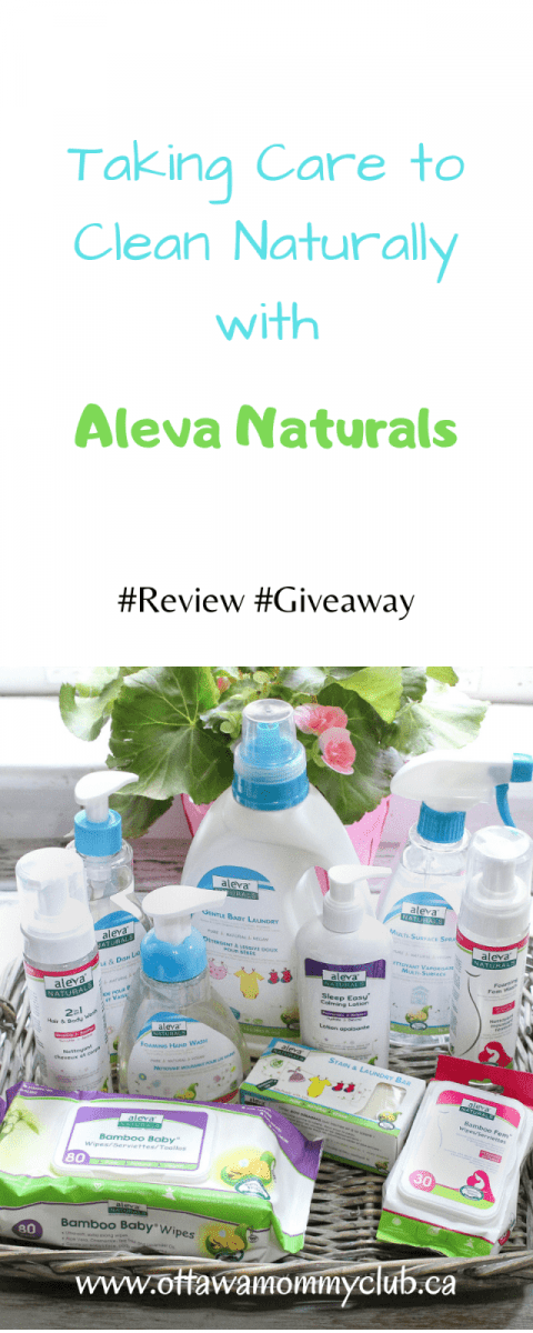 Taking Care to Clean Naturally with Aleva Naturals