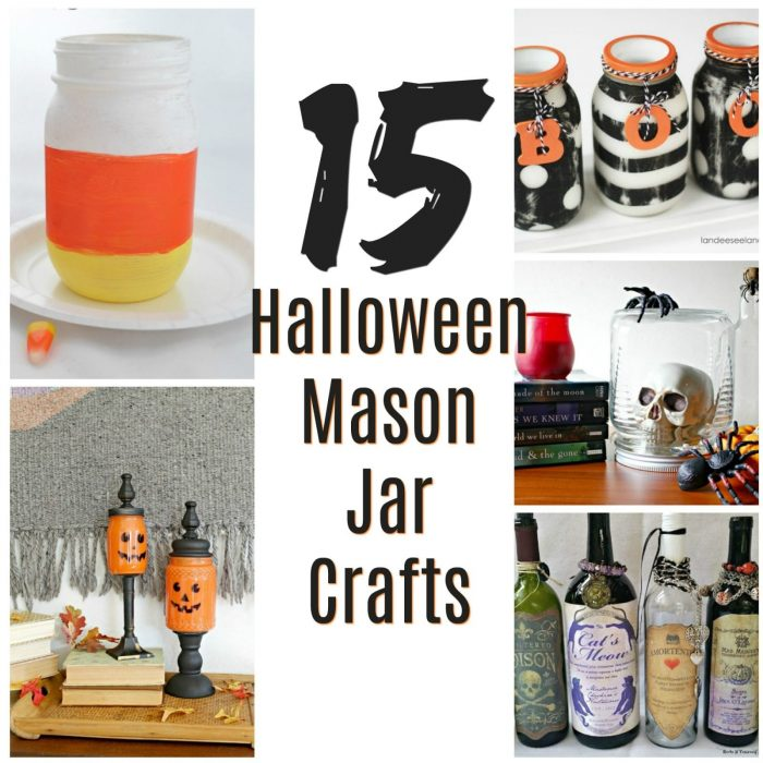 15 Halloween Mason Jar Crafts