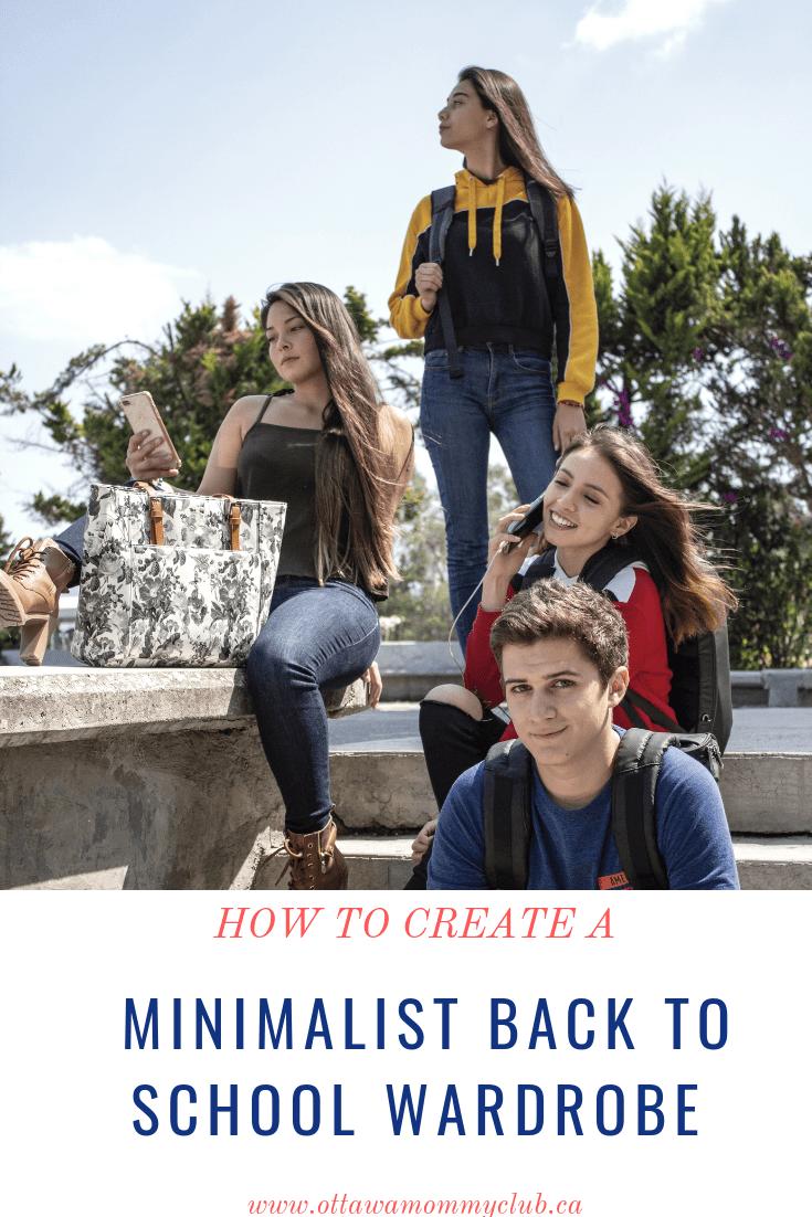How to Create a Minimalist Back to School Wardrobe