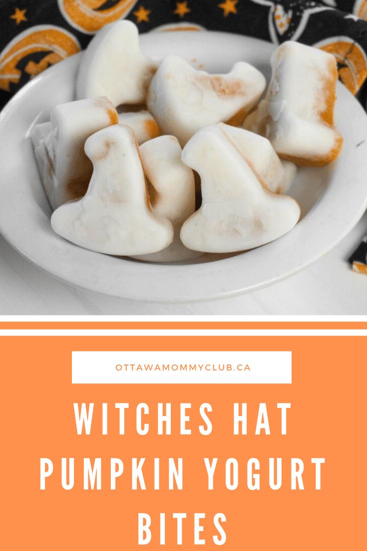 Witches Hat Pumpkin Yogurt Bites