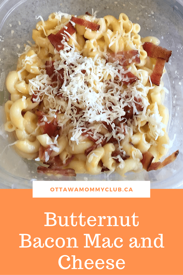 Butternut Bacon Mac and Cheese