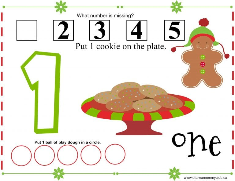 Gingerbread Play Dough Mats With Printable