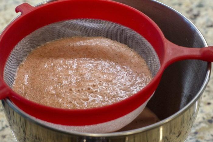 Spiked Agua Fresca Recipe in process