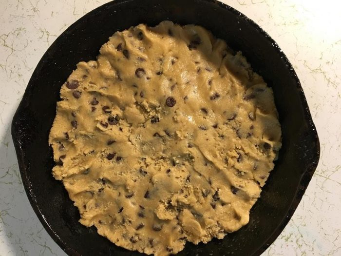 Super Easy Skillet Fully Loaded Cookies