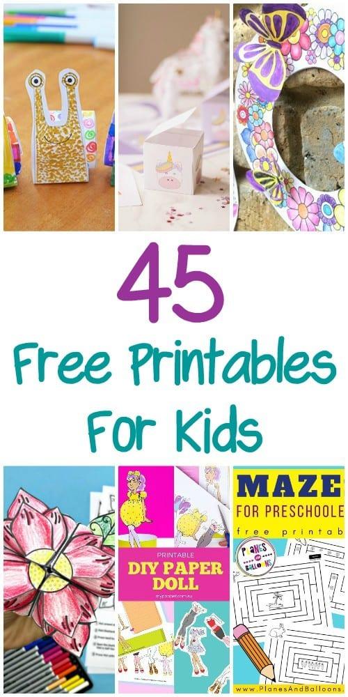 45 Free Printables For Kids