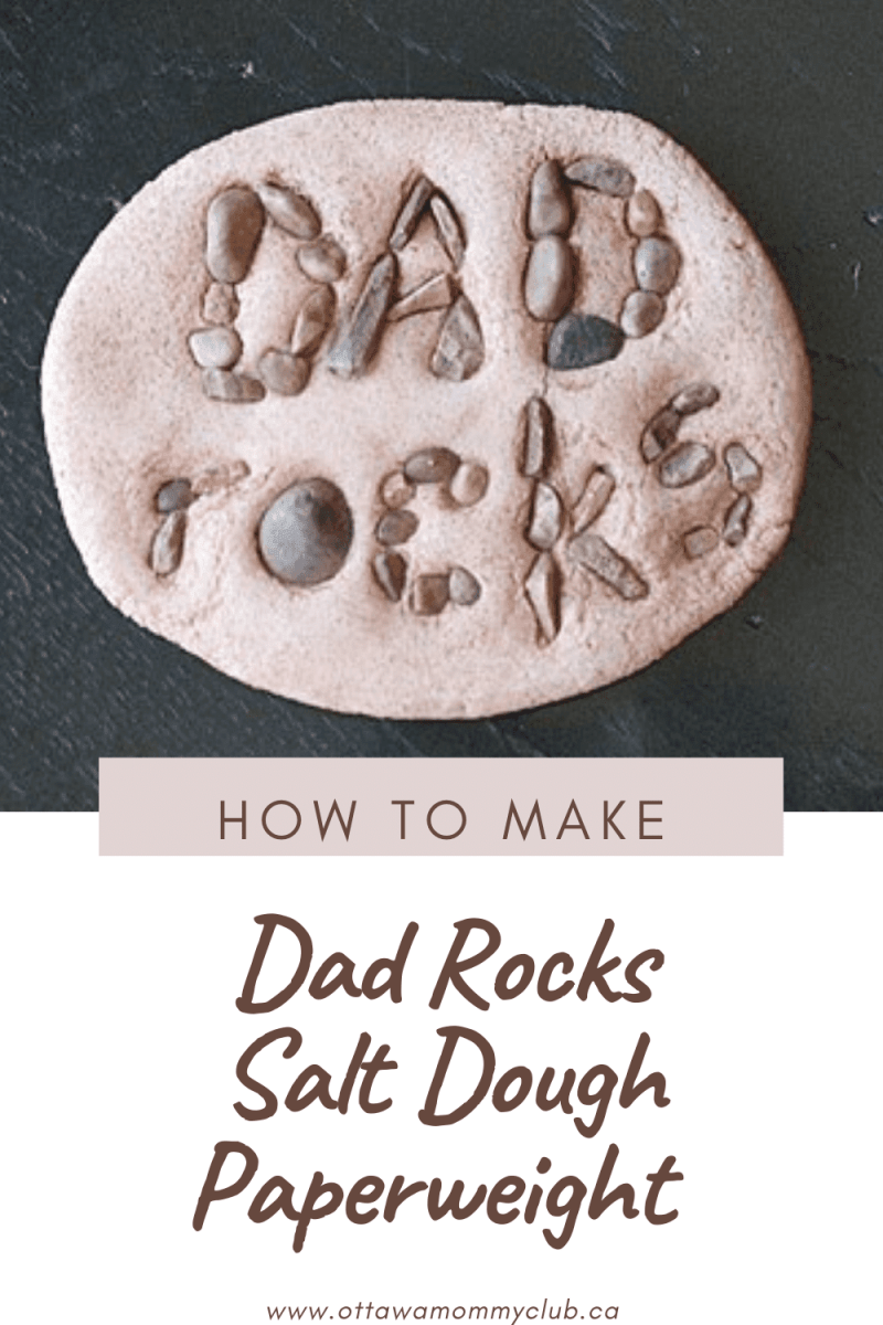 Dad Rocks Salt Dough Paperweight Craft
