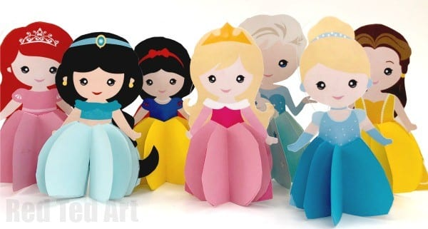 Paper Disney Doll DIY: Princess Printables by Red Ted Art.