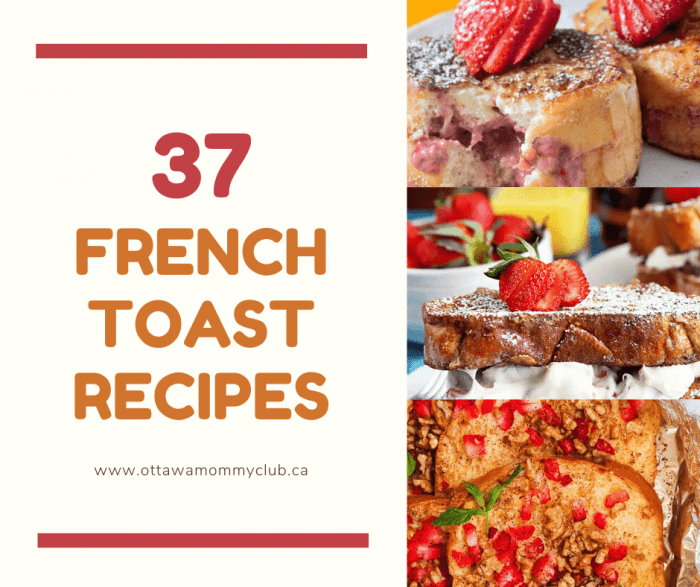 French Toasts for Breakfast, Lunch or Dinner